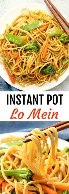 Instant Pot Lo Mein.