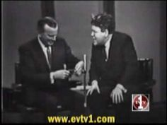 "Jonathan Winters On Jack Paar - ""I'm sorry, I'm sorry.  In the forest, we don't care."""