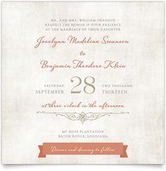 Flat Square Wedding Invitations - Vintage Bunting
