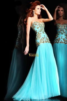 Shop 2013 Prom Dresses Mermaid Sweetheart Sweep Brush Organza With Applique & gowns inexpensive, formal & vogue party dresses boutique online. almost makes me want to go back to high school for prom