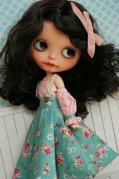 posey dress and dark hair blythe Flickr