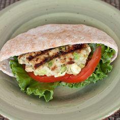 Feta-Avocado Turkey Burger Pitas/would replace feta with goat cheese and probably add portobella mushrooms