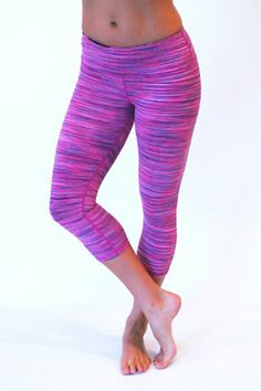 8a426942cc3bf Glyder, Mantra Crop Legging in Acai Berry Space Dye Pure Barre Clothes, Workout  Attire