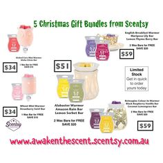"""0 Likes, 1 Comments - Michelle (Shelly) Mesk (@awakenthescent) on Instagram: """"Check out these amazing Christmas bundles, gift giving just got easier! 🎄🎁🎄🎁#scentsy #scentsylove…"""""""