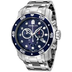 Invicta Men's Pro Diver Chronograph Watch. Get a new watch for yourself this holiday season! http://www.overstock.com/5042477/product.html?CID=245307