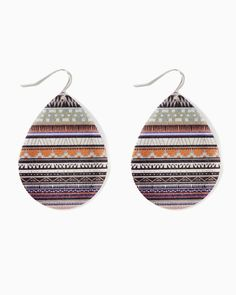 charming charlie   Cosby Stripe Shimmer Earrings   UPC: 410007007375 #charmingcharlie