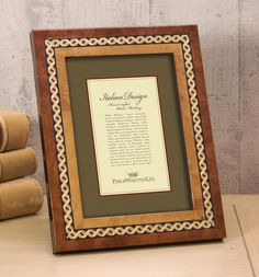 X Design Marquetry Inlay Picture Frame