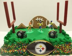Amazon.com: NFL Football Pittsburgh Steelers 9 Piece Themed Birthday Cake Topper Set Featuring Goal Posts, Football Player Decorative Pieces, Pittsburgh Steelers Helmets and Steelers Decorative Pieces: Toys & Games