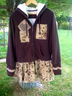 A personal favorite from my Etsy shop https://www.etsy.com/listing/202136304/sale-large-upcycled-hoodie-bohemian