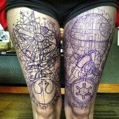 good lord.. star wars thigh art