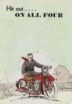 Motos Anciennes, Motos Vintage Indian, Motos Rétros, Publicités Vintage,  Affiches De Moto 2ece76c5d79