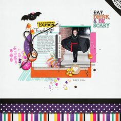 Digital Scrapbook Page by Kayla | Doodled Calendar Journal Cards 2 by Bella Gypsy Designs