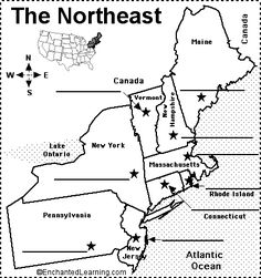 northeastern us state capitals to label states