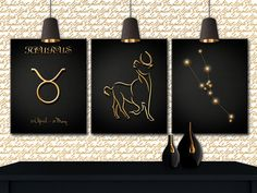 Taurus Constellation, Taurus Print, Taurus Wall, Art Taurus, Taurus Zodiac, Wall…