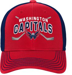 NHL Youth Washington Capitals Basic Strucutred Red Adjustable Hat  Washington Capitals 91569afb34d