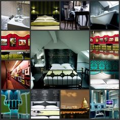 I wanna Stay here in Paris!  Hotel Design Sorbonne...  Looks very cool!