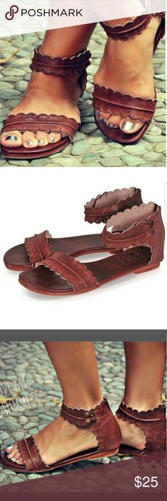 NWOT Brown sandals Roman Goth Gladiator Sandols Brown color Brand new Price negotiable,  make an offer Shoes Sandals