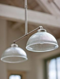 We adore our sophisticated Double Paris Lights, with their beautifully shaped French inspired fluted glass shades; they fall perfectly into any living space. Pipe Lighting, Kitchen Lighting, Pendant Lighting, Lighting Ideas, Table Lighting, Cork Lighting, Decorative Lighting, Lighting Store, Island Lighting