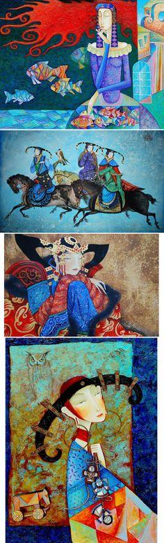 Zayasaikhan Sambuu, arte desde Mongolia y lleno de color.