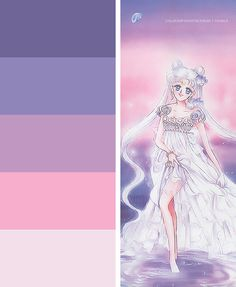 "Paint color ideas for E's ""Magical Girl"" inspired room. Sailor Moons, Colour Pallete, Color Schemes, Color Palettes, Moon Rainbow, Moon Nursery, Color Plan, My Fantasy World, Nursery Themes"