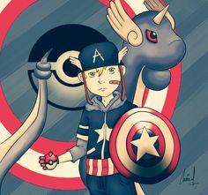 Captain America and Dragonair by gianmulya