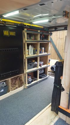 Work Van With Custom Diy Wood Shelving For Tools Youtube