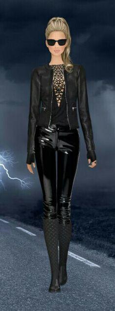 "Covet Fashion Game ""Motoracer"" Challenge Styled by: KingIrene ❤ DiamondB! Pinned ❤"