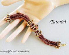 IVY beaded bracelet beading tutorial beadweaving от PeyoteBeadArt