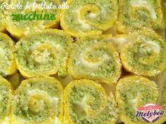 rotolo di frittata alle zucchine e philadelphia
