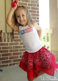 10 Minute Bandanna Skirt