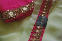 https://www.facebook.com/AARAAbyUmaAnand #Saree #designersaree #AARAA #paleyellow #Pastelpink #mirrorwork #partywear