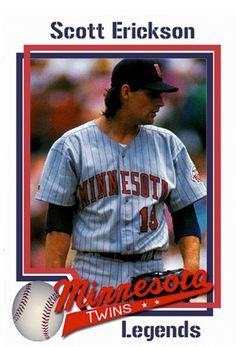 Scott Erickson pitched a no-no and won a World Series with the Twins. Osu Baseball, Baseball Buckets, Minnesota Twins Baseball, Baseball Socks, Better Baseball, Baseball Cards, Mlb Players, Minnesota Wild, National League