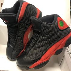 huge discount 1da7b 34d0d Jordan Shoes   Jordan Retro 13 Bred Men 8.5 Black   True Red Euc   Color