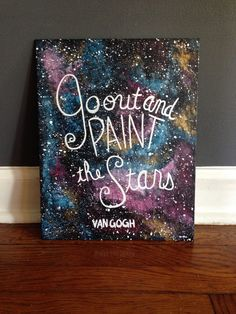 This Van Gogh quote is painted on an 11x14 canvas panel. Everything is hand painted using acrylic paint and paint pens. Questions? Contact