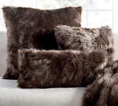 Faux Fur Pillow Cover - Sun Bear, Brown | Pottery Barn