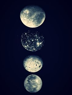 Galilean Moons of Jupiter. Callisto (second from top) is a beaut.