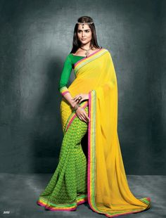 Jns Good Quality Georgette Saree