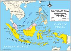 39 Best Asia images | Southeast asia, East asia map, Blue prints