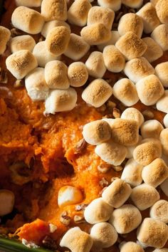 40 minutes · Gluten free · Serves 16 · This is the sweet side dish you didn't know you needed this Thanksgiving Sweet Potato Casserole, Sweet Potato Recipes, Casserole Dishes, Gluten Free Marshmallows, Recipes With Marshmallows, Thanksgiving Sides, Thanksgiving Recipes, Potato Sides, Peeling Potatoes