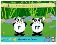 "Pandas de pipoclub.com (Palabras parónimas con ""r"" y ""rr"") Dual Language, Spanish Language, Language Arts, Online Gratis, Teaching Resources, Dyslexia, Speech Language Therapy, Spanish"