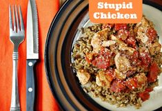 Stupid Chicken - Five ingredients. All day in your slow cooker. What's easier than this chicken dinner recipe? Not much, if you ask us... We know what we're making for supper tonight!