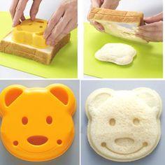 teddy bear shaped sandwich cutter