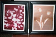 DIY Spray Paint Flower Art—Easy AND Cheap! - Layering adding new leaves on each spray with different colors of paint...