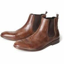 Custom Made Men Chelsea Slip On Handcrafted Formal Vintage Leather Boots US 7-16 - £123.59