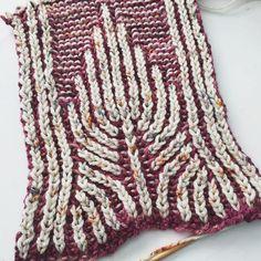 scarf pattern brioche
