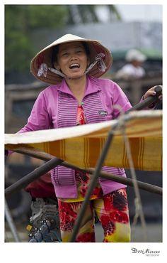 Floating markets, Mekong Delta, Vietnam  www.dorimoreno.com Mekong Delta, Cowboy Hats, Vietnam, Beautiful People