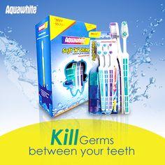 Aquawhite Anti Cavity + Whitening Mouthwash kills germs that cause Bad Breath, Plaque & the gum disease Gingivitis.