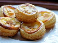 Almond and Vanilla Custard Tarts Must make. Anything CUSTARD is great!!!!