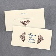 Vintage Country - Place Card Ideal for wedding receptions. A vintage country design dresses up the front and back of this place card.
