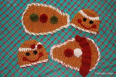 Gingerbread boy or girl  Cuddle Critter Cape Set by calleighsclips, $40.00